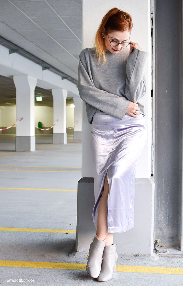 Statementstiefeletten von Zara, Boots mit Blockabsatz in Silber