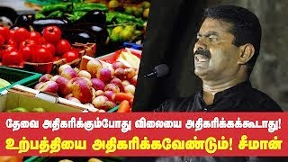 Seeman Speech | Thevai & Vilai Athikarikavendum..