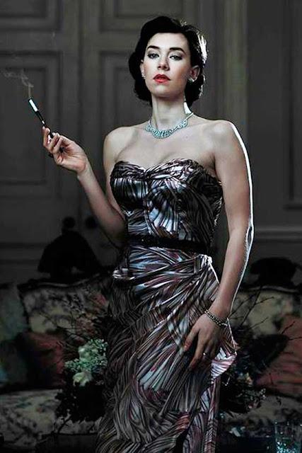 Vestido Margaret (Vanessa Kirby) The Crown figurinos