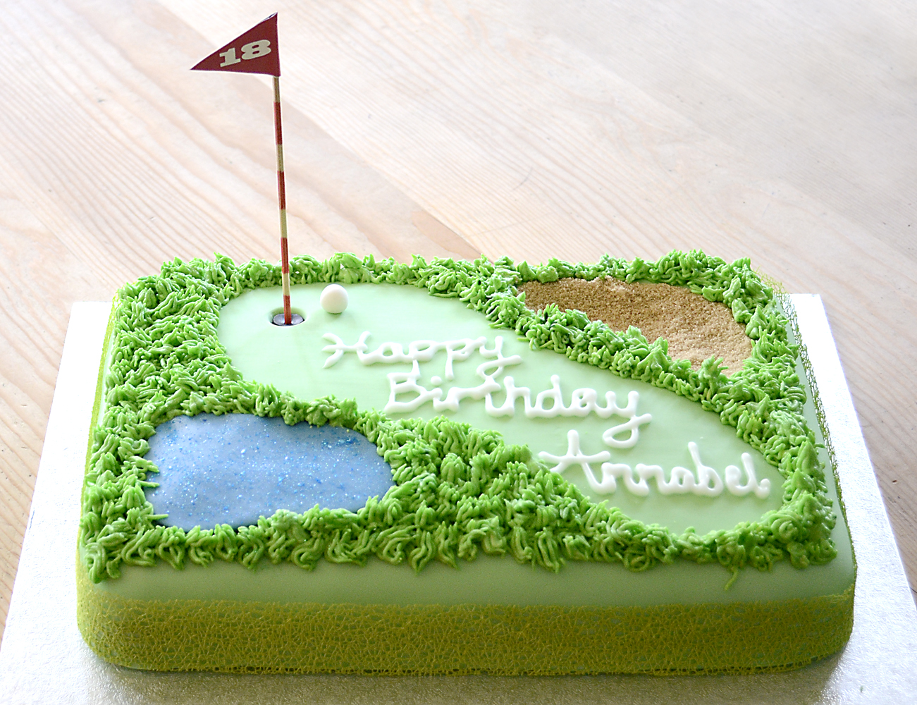 How To Make A Golf Course Cake