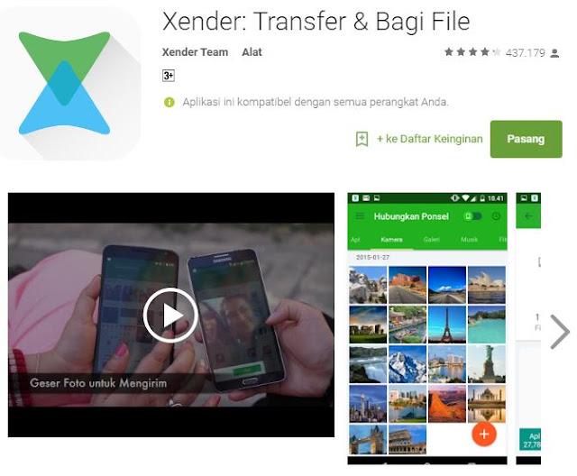 6 aplikasi Android terbaik transfer file dengan sekejap - Xender