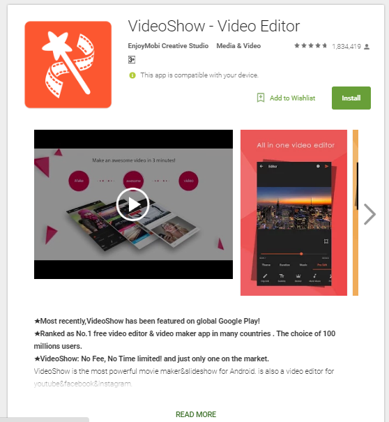 Top 3 free Best Android video editor apps | K&M