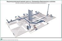 Проект одноэтажного жилого дома в пригороде г. Иваново - д. Беляницы Ивановского района. Система отопления, вентиляции и кондиционирования. Перспектива 2