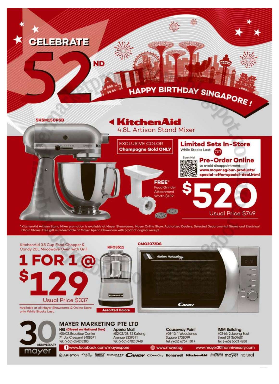 Mayer KitchenAid Promotion 08 August 2017 Amazing Ideas
