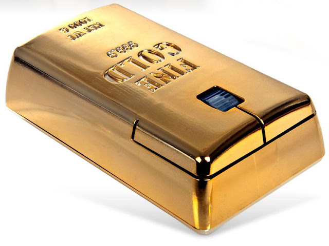 The Gold Bullion Wireless Mouse adalah mouse paling mahal di dunia