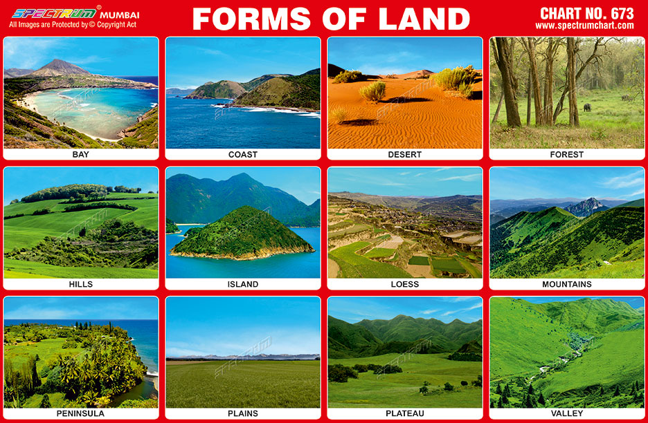 Forms of lands chart also spectrum educational charts rh spectrumchartspot
