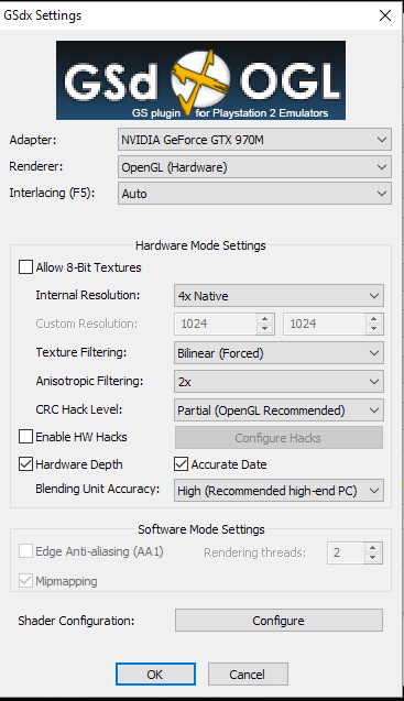 PCSX2 Settings for NCAA Football