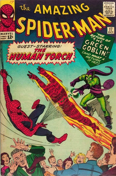 Amazing Spider-Man #17, Human Torch and the Green Goblin
