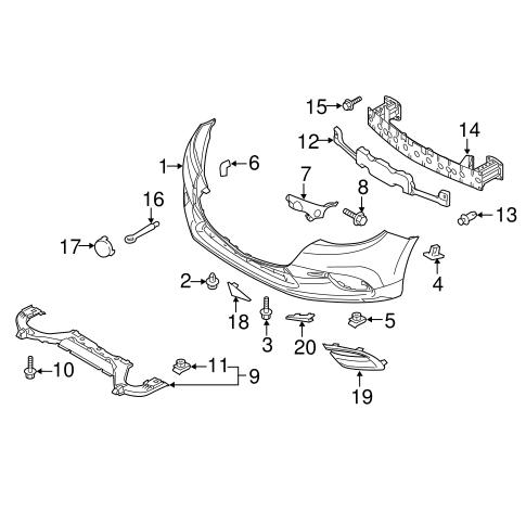 Nắp che tam giác cản trước trái Mazda 3 2015 All new| BHN150101| BHN150102| B63B50102|B63B50101