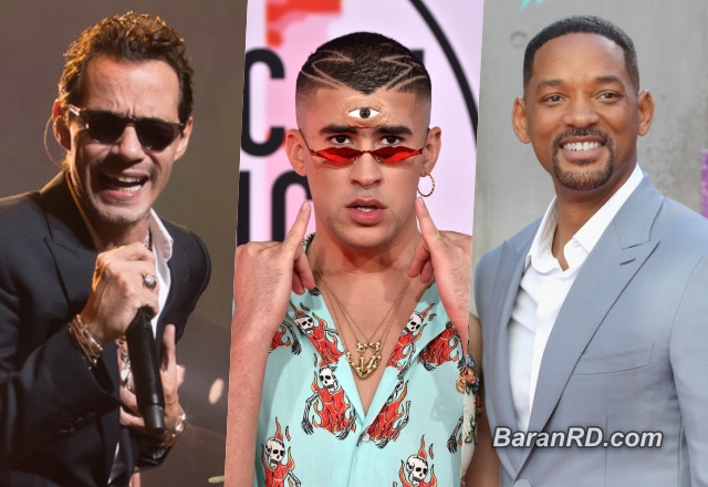 Marc Anthony, Bad Bunny y Will Smith