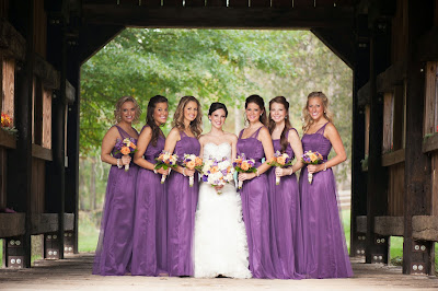 ff54aa7f75 Katelyn s bridesmaids wore Dessy Collection Style 2821 in African Violet