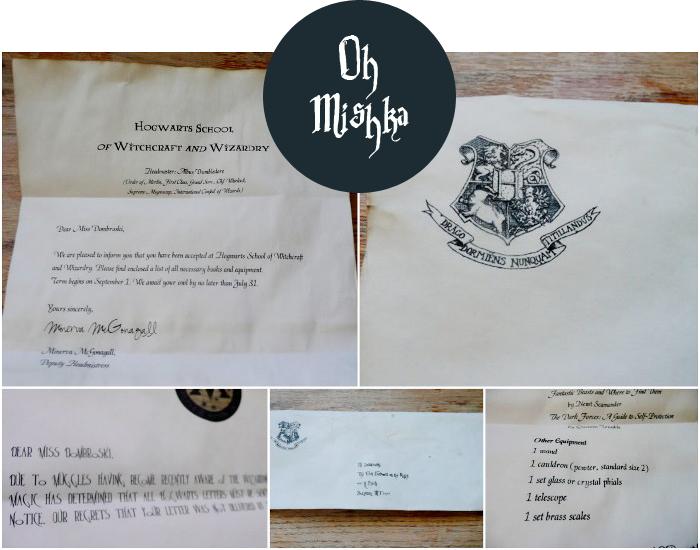 M O O R E A S E A L DIY Hogwarts Acceptance Letter Michelle