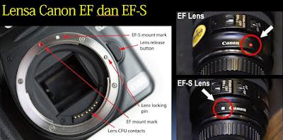 Perbedaan Lensa EF-dan-EF-S