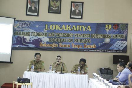 Lokakarya Sosialisasi Program dan Workshop Strategi Komunikasi Kotaku Kab. Subang