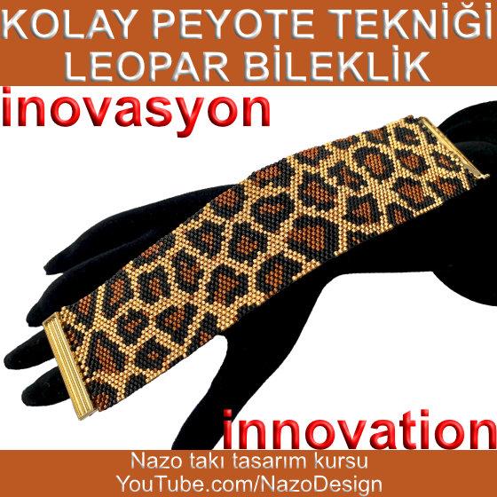 Basit Peyote Tekniği | Leopar Desen Bileklik