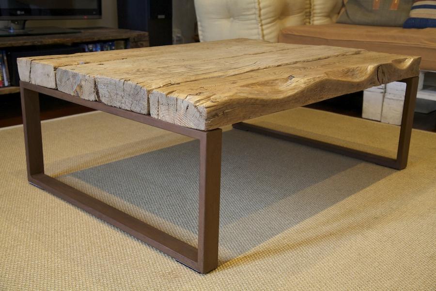 Palets y m s el sof blanco for Como hacer una mesa estilo industrial