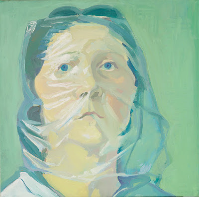 Selbstportraet unter Plastik (1972), Maria Lassnig