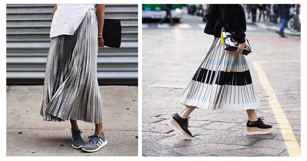 Серебристая юбка с чем носить фото