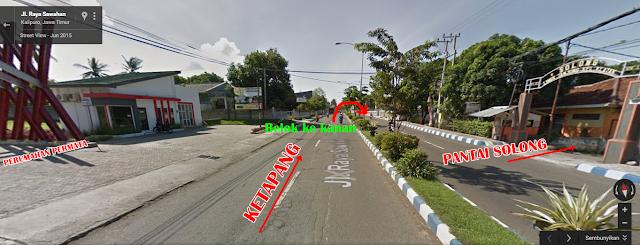 letak Pantai Villa Solong.