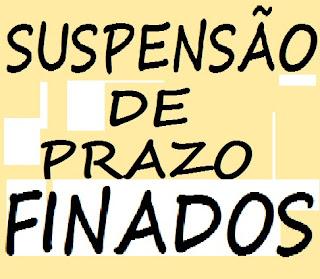 SUSPENSÃO DE PRAZO FINADOS 1º DE NOVEMBRO