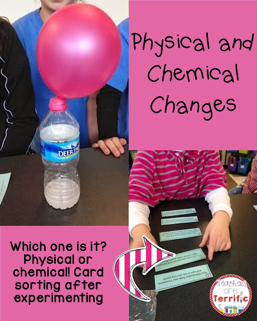 Physical and Chemical Changes: Can you sort the cards into those two categories. Some of them are tricky!