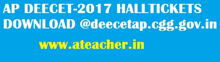 AP DEECET 2017 Hall tickets