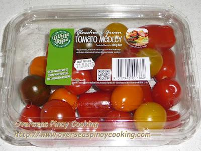 Kinilaw na Maya Maya - Cherry Tomatoes