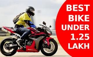 best bikes under 1.25 Lakh