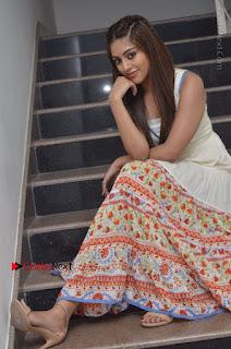 Telugu Actress Anu Emmanuel New Stills in Beautiful White Long Dress  0065.JPG