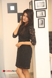 Actress Kimaya Phtoos in Black Short Dress at Kotha Kothaga Unnadi Press Meet 0006