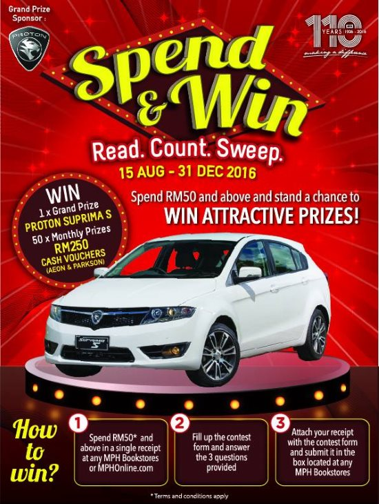 "Aug15-Dec31: Mph 110Th Anniversary ""Spend & Win"" Contest: Read"