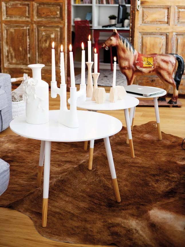 mesas centro casa nórdica y mediterránea