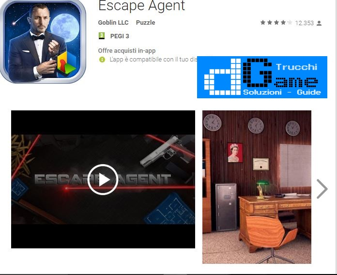 Soluzioni Escape Agent  livello 11 12 13 14 15 16 17 18 19 20 | Trucchi e  Walkthrough level
