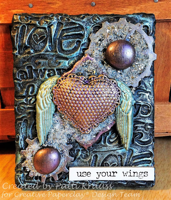Creative Paperclay® Love Wings Canvas