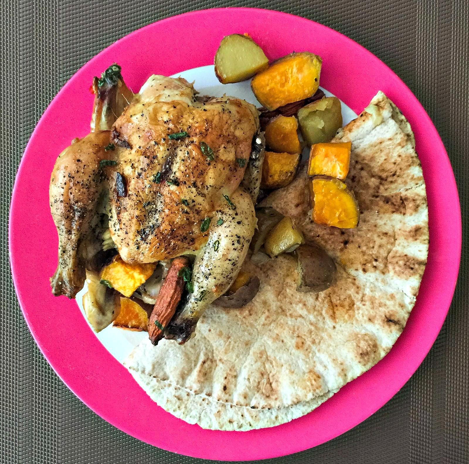 Bhawish's Kitchen : Garlic Roasted Chicken