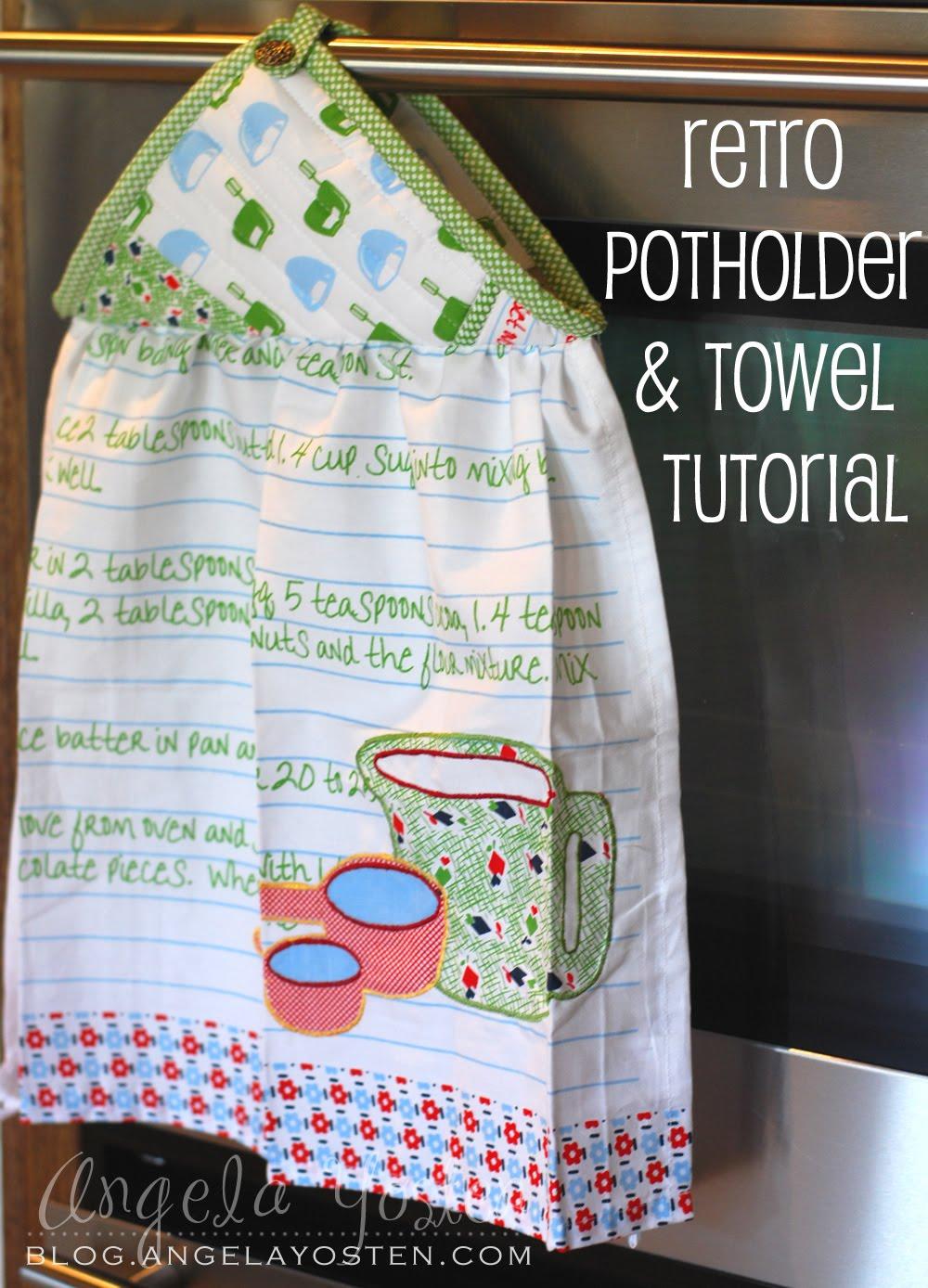 Kitchen Towel And Potholder Set
