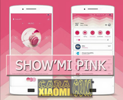 Themes ShowMI Pink Mtz For Xiaomi MIUI New Version