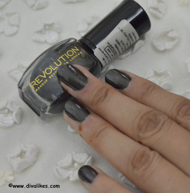 Makeup Revolution Nail Polish Maybe Tonight Swatch