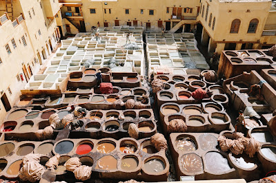 Fes tanneries from above