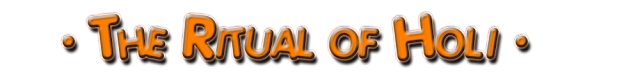 the ritual of holi