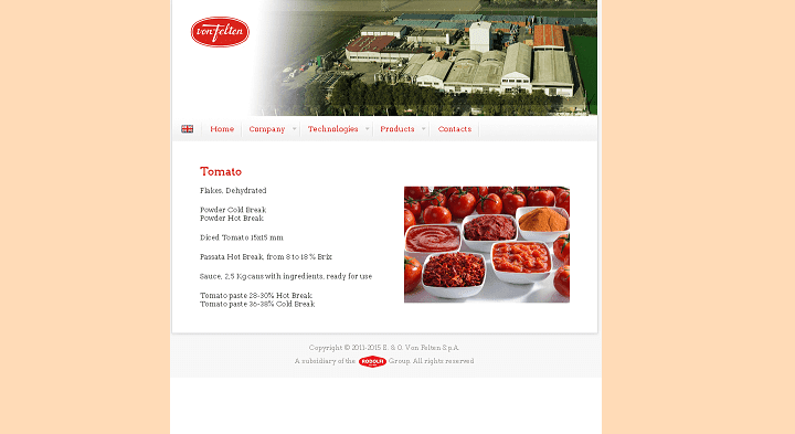 Picture to Italian food exporter company named von Felten