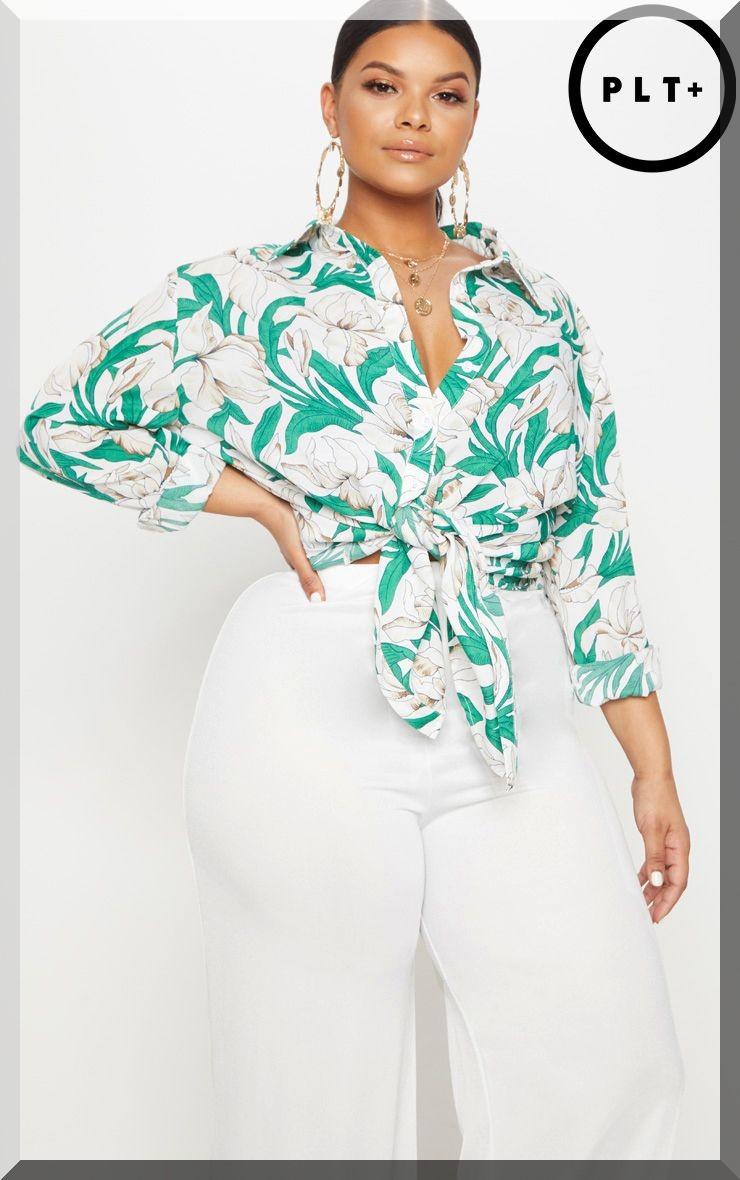 chemise-imprimé-fleur-tropical-grandes-tailles-prettylittlething