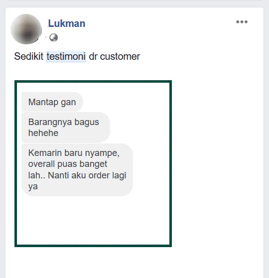 contoh testimoni facebook