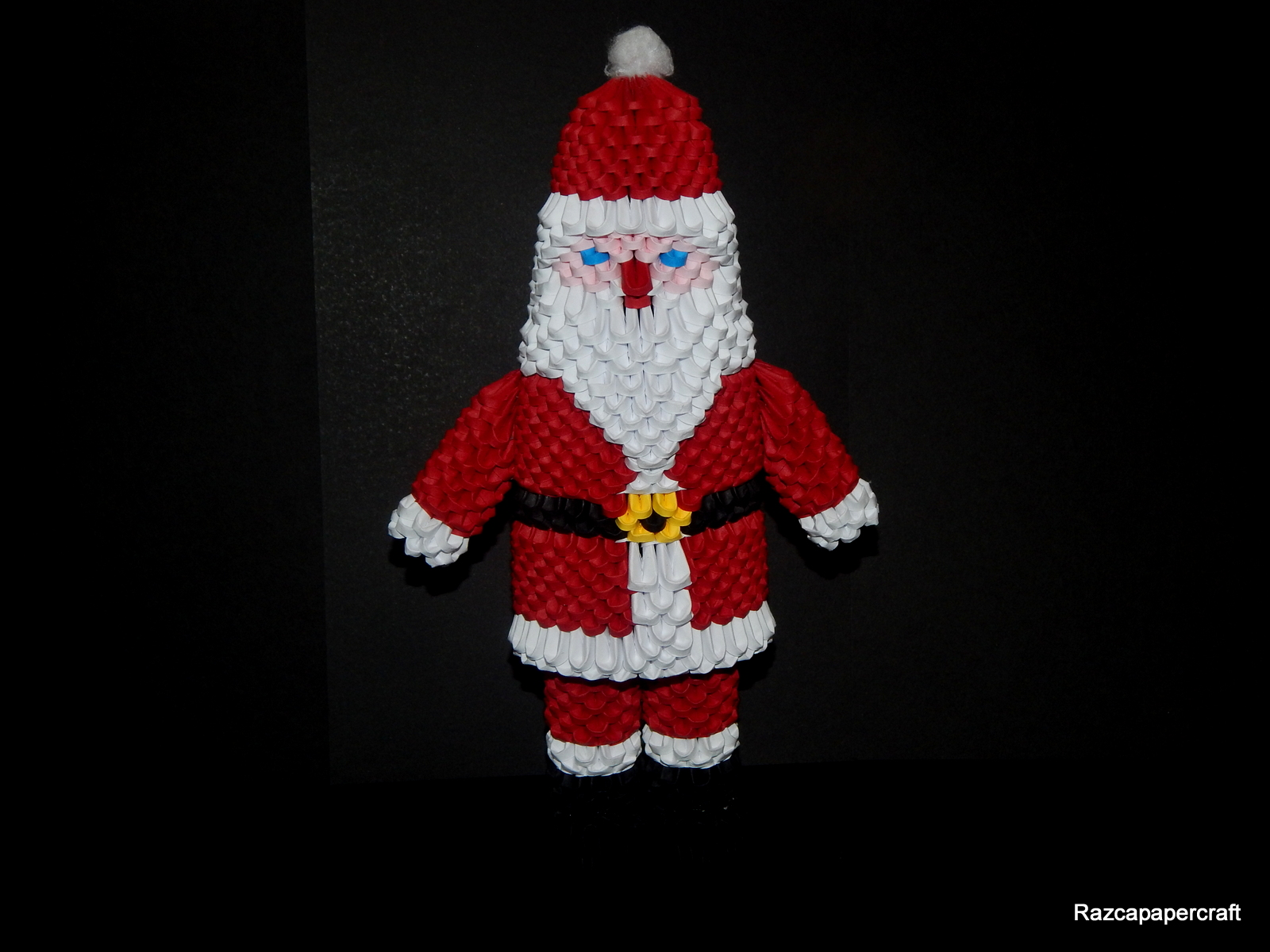 Razcapapercraft: 3D Origami Santa Claus tutorial 2015 - photo#23