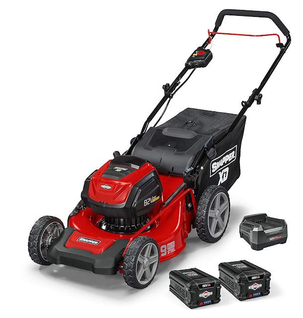 snapper briggs stratton lawn mower cordless