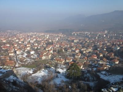 Belogradchik desde la fortaleza, Bulgaria