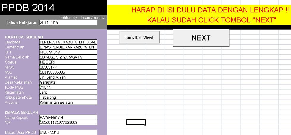 Download Aplikasi Penetapan KKM Kelas 6 Berbasis Ms. Excel Terbaru (New Update)
