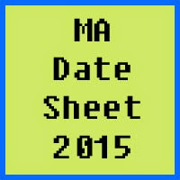 MA Date Sheet 2017 Part 1 and 2 Punjab University PU Lahore