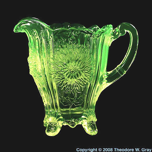 Uranium glass jug photograph