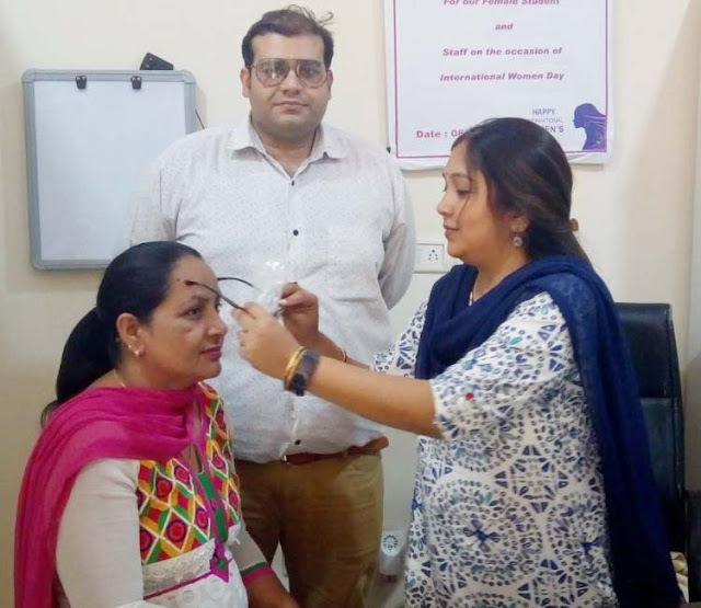 Organizing the Eye Check Camp by YMCA University